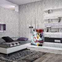 идея красивого дизайна спальной комнаты для молодого человека фото