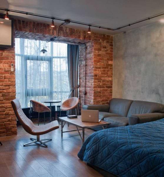 идея яркого интерьера спальной комнаты для молодого человека картинка