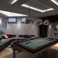 вариант красивого стиля бильярдной комнаты картинка