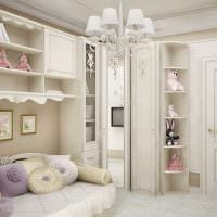вариант светлого декора комнаты для девочки 12 кв.м картинка