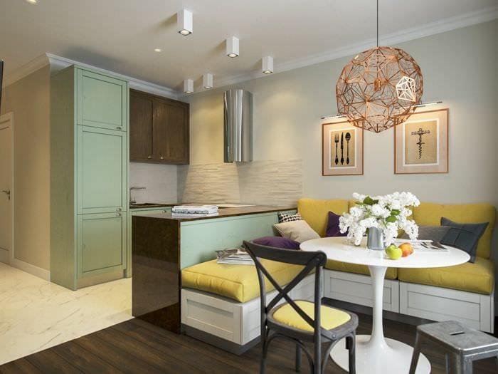 идея красивого интерьера двухкомнатной квартиры