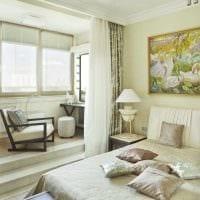 вариант красивого дизайна гостиной спальни 20 кв.м. картинка