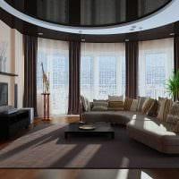 идея яркого стиля зала в частном доме картинка