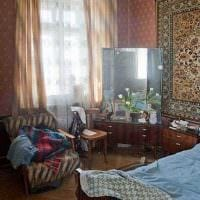 идея необычного интерьера комнаты в советском стиле фото
