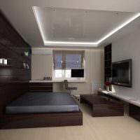 вариант светлого дизайна небольшой комнаты в общежитии картинка