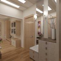 идея светлого стиля современной прихожей комнаты картинка
