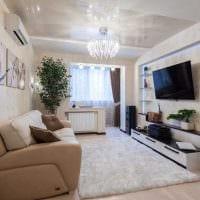вариант яркого стиля гостиной комнаты 18 кв.м. картинка
