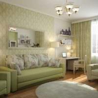 идея яркого стиля двухкомнатной квартиры фото