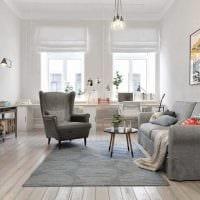 идея необычного декора квартиры в скандинавском стиле фото