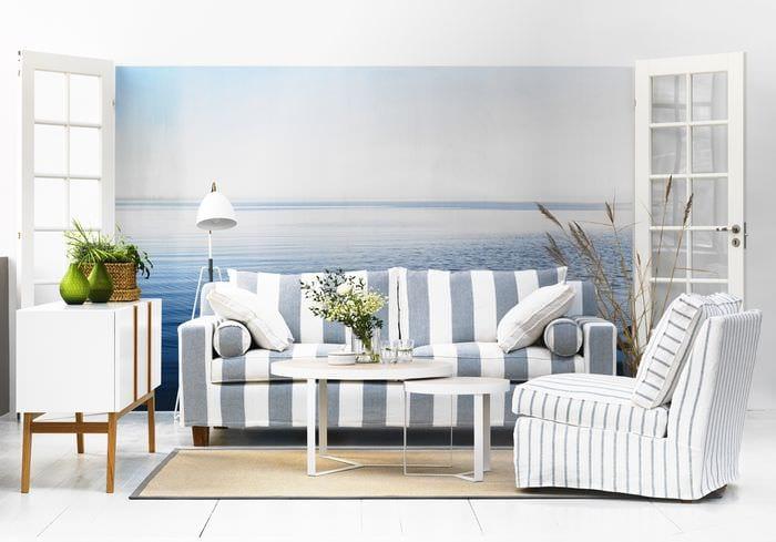 вариант необычного дизайна квартиры в скандинавском стиле