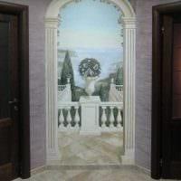 вариант необычного интерьера квартиры с росписью стен картинка