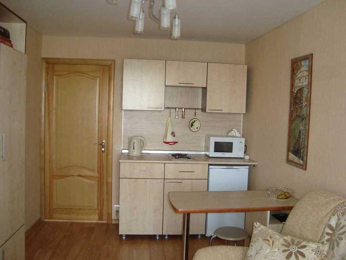 вариант светлого дизайна небольшой комнаты в общежитии