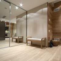 идея необычного дизайна современной прихожей комнаты картинка