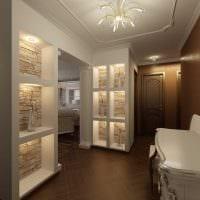 идея красивого декора современной прихожей комнаты фото