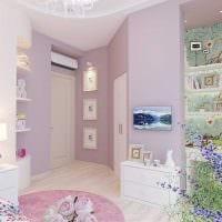 вариант красивого стиля спальной комнаты для девочки в современном стиле картинка