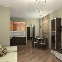 идея красивого стиля спальни гостиной 20 кв.м. картинка