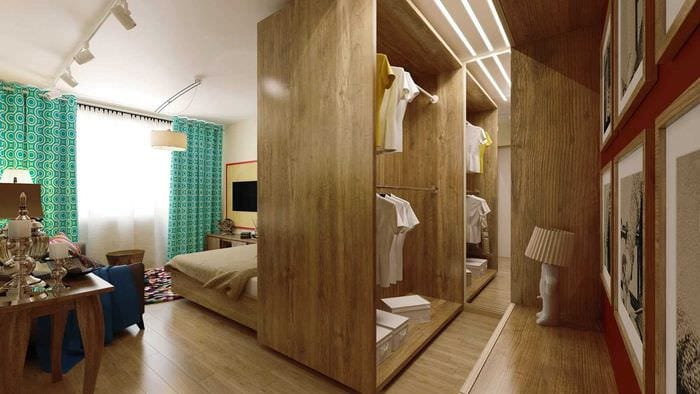 вариант необычного стиля гостиной спальни