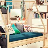 вариант необычного декора спальни для девочки в современном стиле картинка