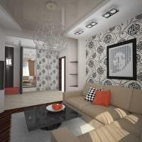 вариант яркого дизайна гостиной в частном доме картинка