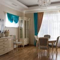 вариант интересного сочетания бежевого цвета в стиле комнаты картинка