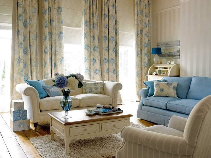идея яркого сочетания бежевого цвета в интерьере квартиры