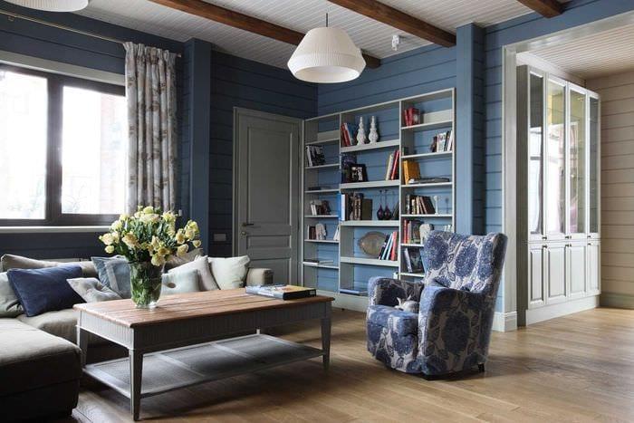 идея светлого сочетания цвета в дизайне современной квартиры