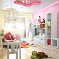 пример светлого современного дизайна детской комнаты картинка