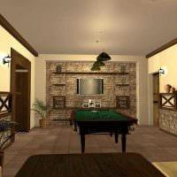 идея яркого дизайна бильярдной комнаты картинка