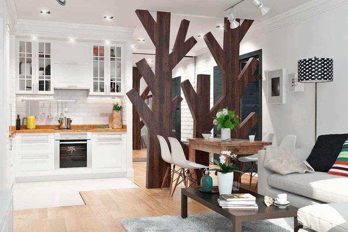 идея светлого декора двухкомнатной квартиры