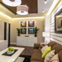 вариант необычного дизайна гостиной спальни 20 кв.м. фото