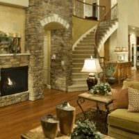 идея красивого дизайна зала в частном доме картинка