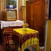 идея интересного стиля квартиры в советском стиле фото