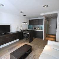 вариант красивого стиля квартиры студии картинка