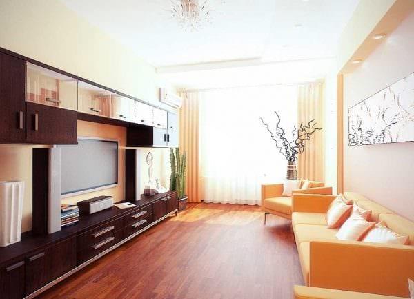 вариант светлого стиля маленькой комнаты картинка