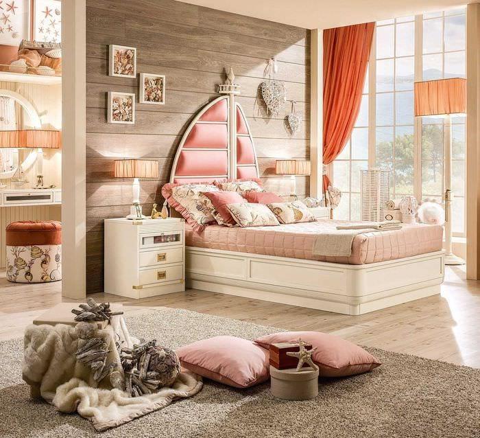 вариант красивого дизайна спальной комнаты для девочки в современном стиле