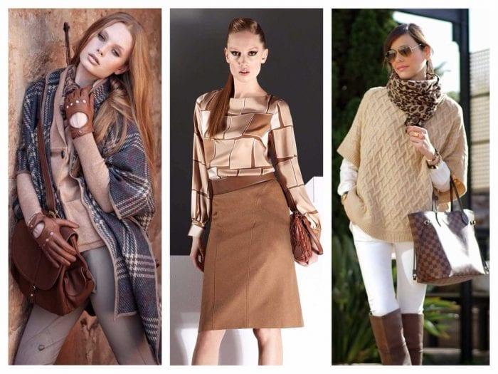 идея использования необычного бежевого цвета в дизайне одежды