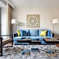 вариант применения интересного голубого цвета в дизайне дома картинка