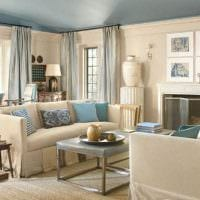 вариант использования интересного бежевого цвета в дизайне дома