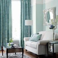 вариант применения интересного голубого цвета в стиле дома фото