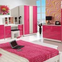 идея применения розового цвета в ярком дизайне квартире фото