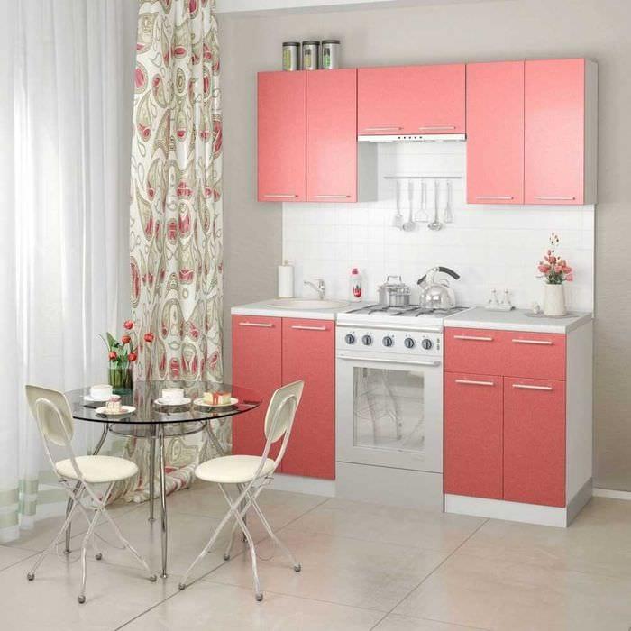 идея использования розового цвета в светлом декоре квартире