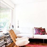 идея использования розового цвета в необычном дизайне квартире картинка