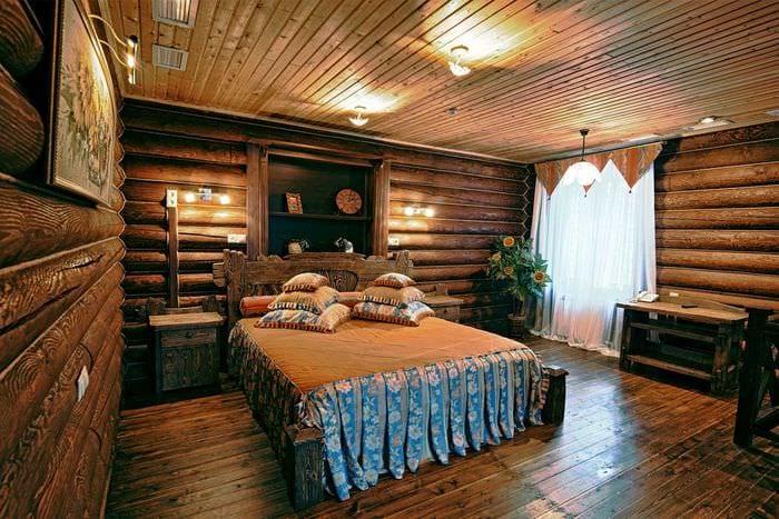 идея применения русского стиля в ярком декоре квартире