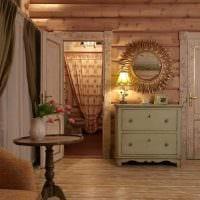 пример использования русского стиля в необычном интерьере квартире картинка