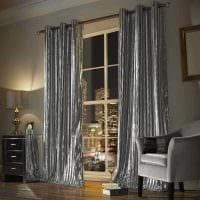 идея применения современных штор в светлом интерьере квартире картинка