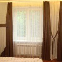 идея использования современных штор в необычном дизайне комнате фото