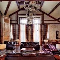 пример применения необычного декора комнаты в стиле ретро фото