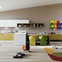 вариант использования светлого ламината в красивом дизайне квартиры картинка