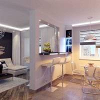 идея использования светового дизайна в красивом стиле квартиры картинка
