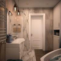 идея применения светового дизайна в красивом стиле квартиры фото